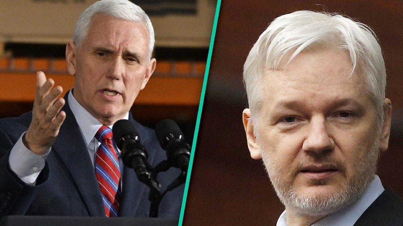 Assange: Clinton wywiera naciski na przejęcie władzy przez Pence'a