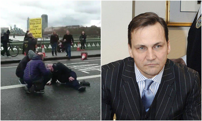 Sikorski był na miejscu zamachu. Polityk opublikował wstrząsające nagranie (VIDEO)