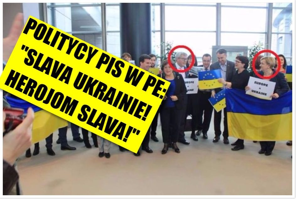 Politycy PiS głośno w europarlamencie: SLAVA UKRAINIE, HEROJOM SLAVA! (Video)