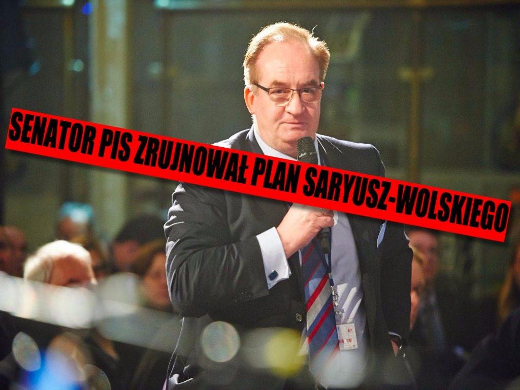 Kandydatura Saryusz-Wolskiego miała wyglądać kompletnie inaczej. Senator PiS i Orban zrujnowali cały plan
