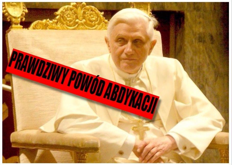 Bliski przyjaciel Benedykta XVI ujawnia PRAWDZIWY powód jego abdykacji