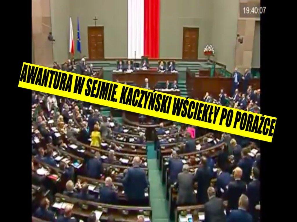 Awantura w Sejmie. Kaczyński wściekły po zwycięstwie Tuska, a opozycja skanduje mu... (VIDEO)