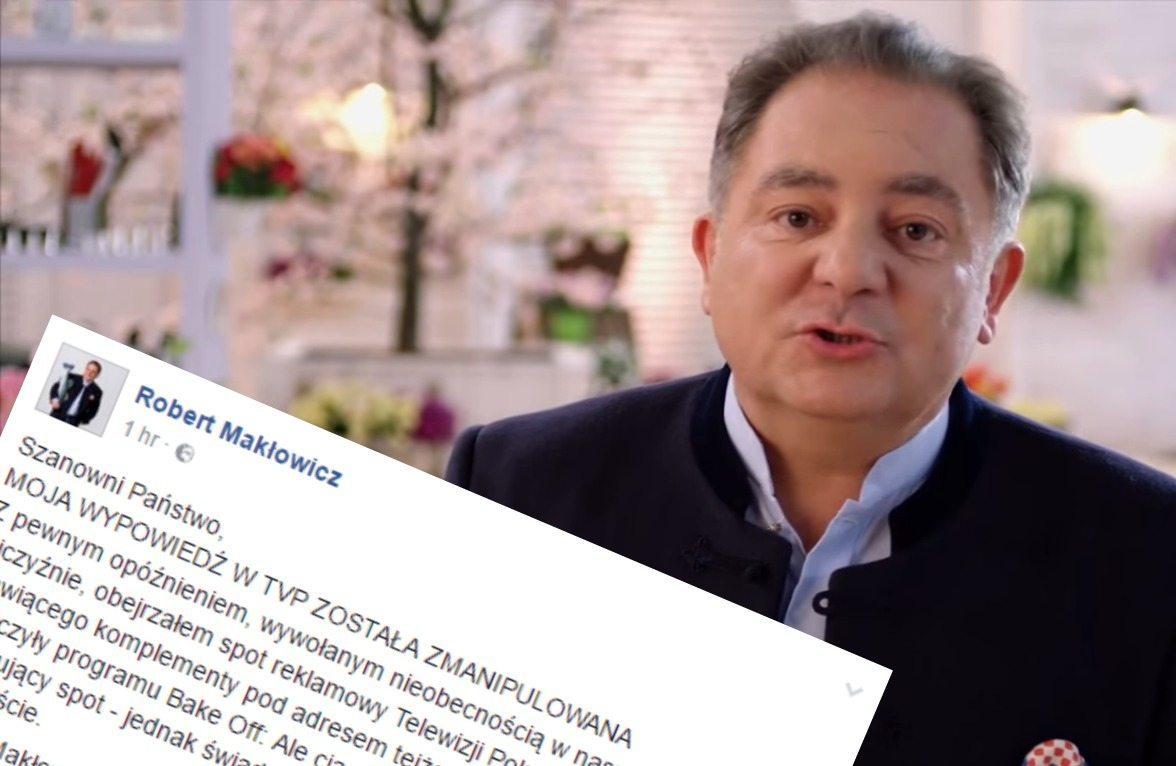 Makłowicz wściekły. TVP kłamliwie wykorzystała jego wizerunek (VIDEO)