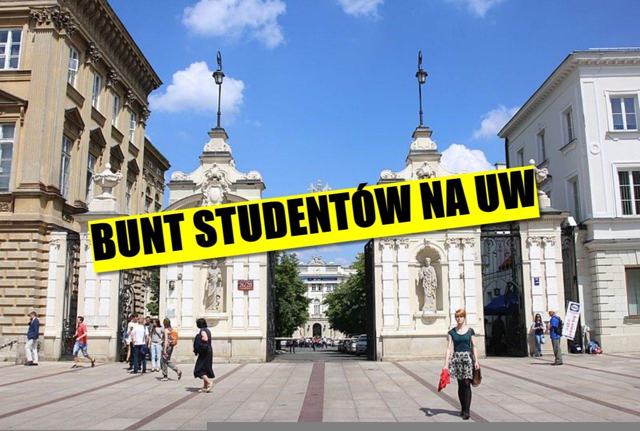 Bunt na Uniwersytecie Warszawskim. Studenci bojkotują kontrowersyjny wykład