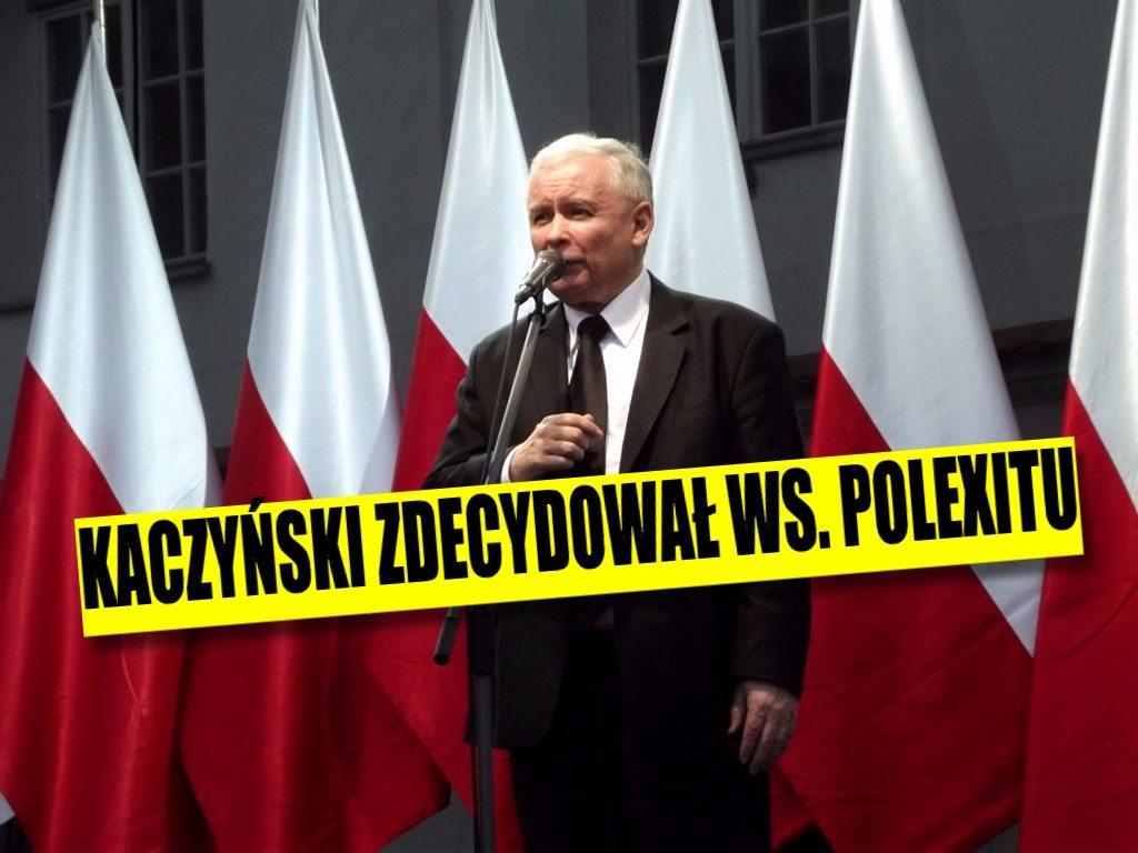 Kaczyński zdecydował. Jest oficjalne stanowisko PiS ws. Polexitu