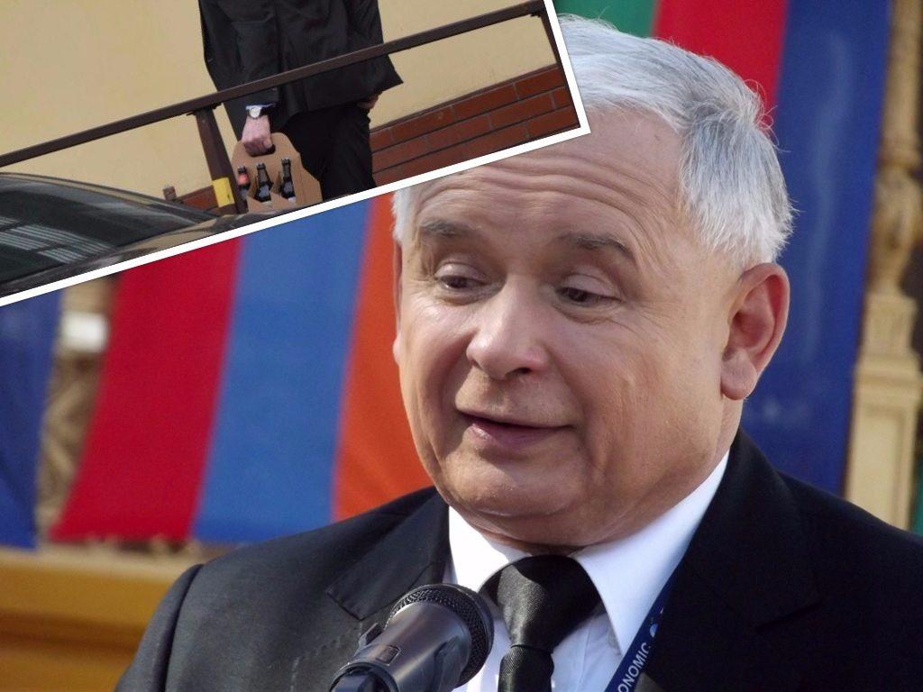 Brytyjski ambasador biegnie przynieść Kaczyńskiemu piwo (FOTO)