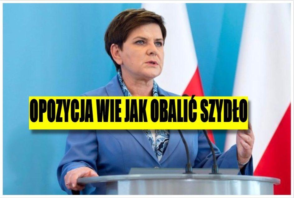 Opozycja znalazła sposób jak obalić rząd Szydło. Jest genialnie prosty