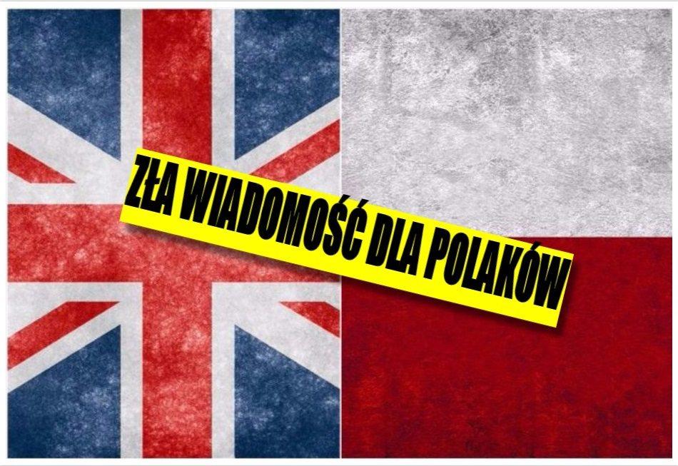 Zła wiadomość dla Polaków w UK. Brytyjski rząd drastycznie ograniczy ich prawa