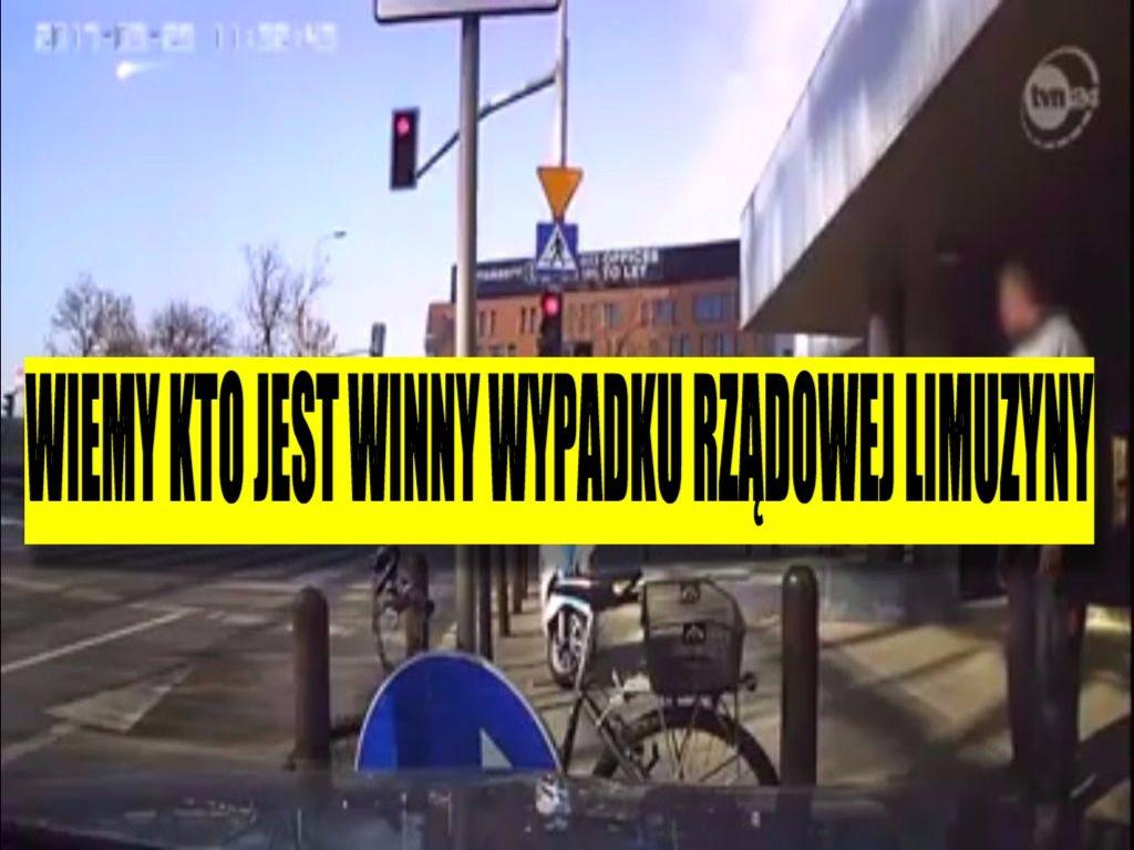 To nagranie nie pozostawia wątpliwości. Wiemy, kto zawinił przy wypadku rządowej limuzyny (VIDEO)