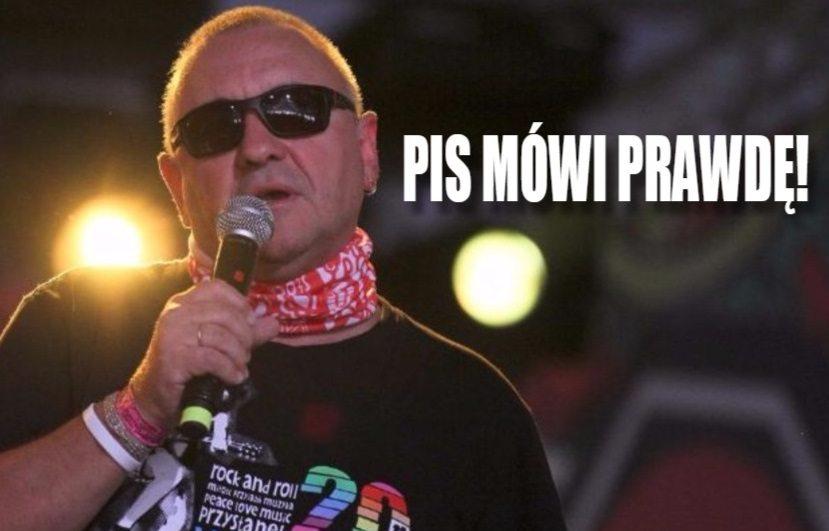 """Nieoczekiwane słowa Owsiaka. """"PiS mówi prawdę!"""""""