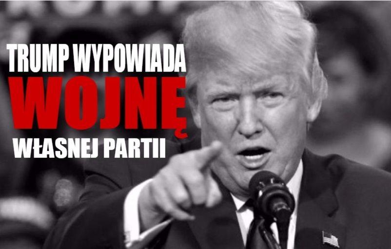 Z ostatniej chwili: Donald Trump wypowiedział wojnę członkom własnej partii!