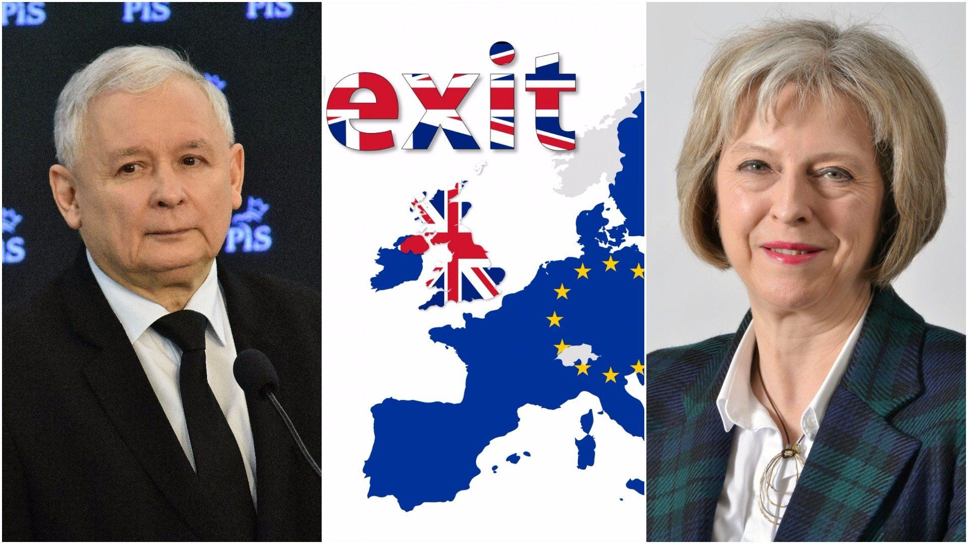 """Kaczyńskiego """"deal"""" z Theresą May. Wiemy, po co szef PiS pojechał do Londynu"""