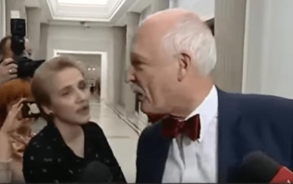 """Piekielnie ostre starcie Scheuring-Wielgus i JKM-a. """"Niech pan patrzy mi w oczy, nie na mój biust!"""" (VIDEO)"""