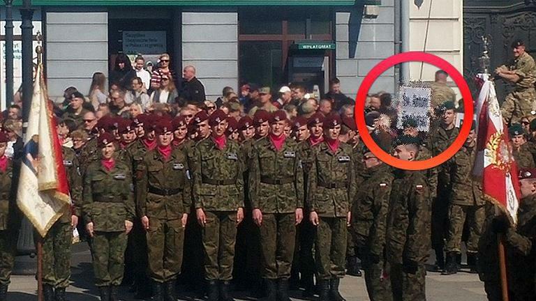 Macierewicz przemawia na pikniku NATO. Wtedy pojawił się ten transparent (FOTO)