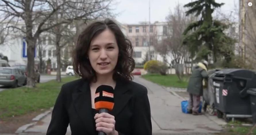 Prawdziwa akcja za plecami reporterki czeskiej telewizji na żywo! Mistrz drugiego planu wpadł... (VIDEO)