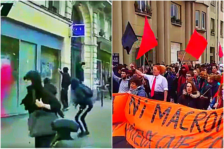 Piekło w Paryżu. Setki przeciwników Le Pen i Macrona demolują stolicę (VIDEO)