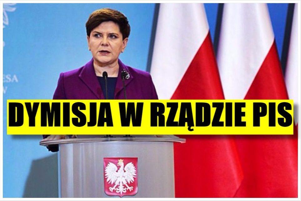 Nieoczekiwana dymisja w rządzie Beaty Szydło!