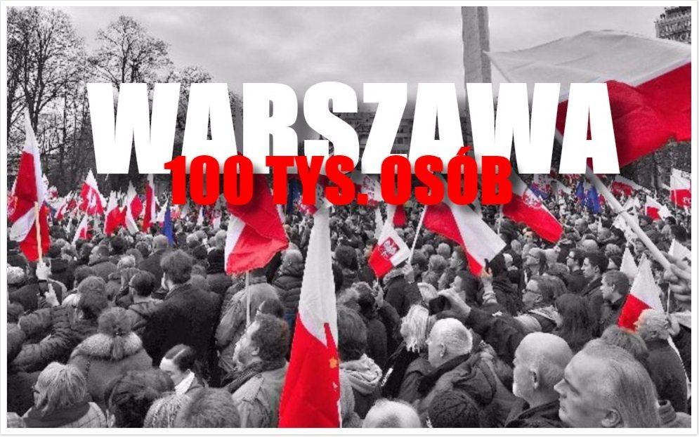 100 tysięcy osób wyjdzie na ulice Warszawy