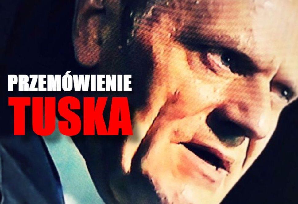 Przemówienie Tuska po przesłuchaniu porwało opozycję. Ostre słowa