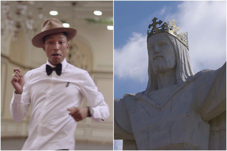 """Twórca hitu """"Happy"""" w nowym klipie wystrzelił Jezusa ze Świebodzina w kosmos (VIDEO)"""