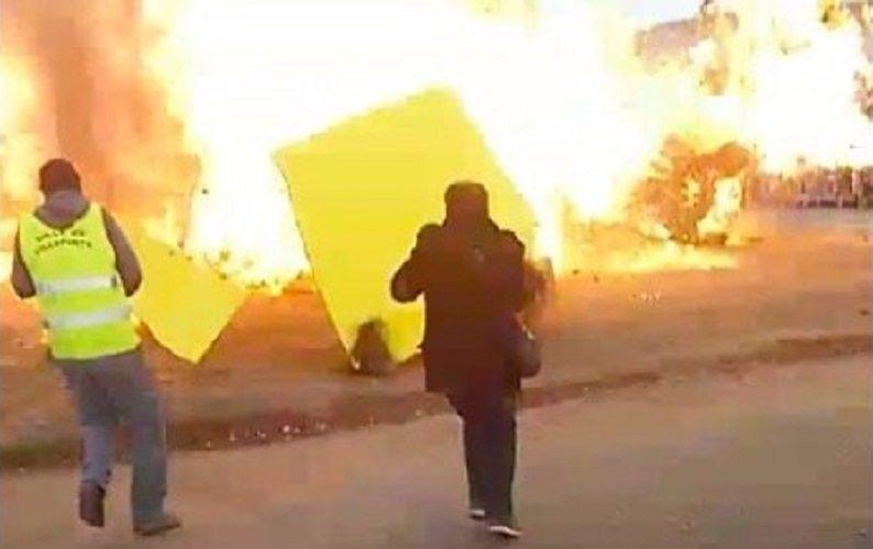 Mamy wideo z potężnego wybuchu we Francji! (VIDEO)