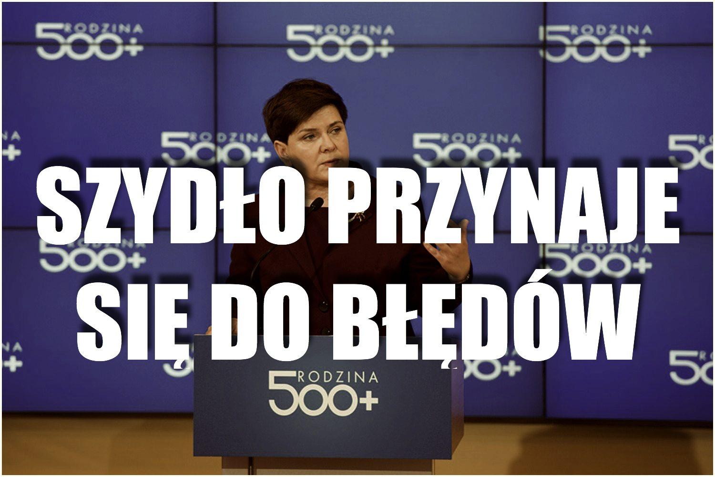 """Premier Szydło przyznała się do błędów. """"Można było ich uniknąć gdyby było..."""""""