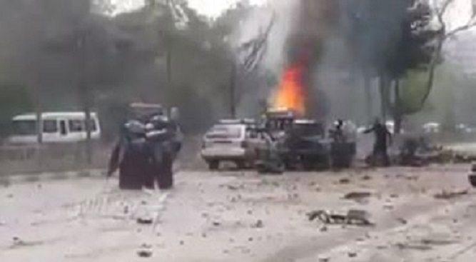 Eksplozja tuż przy ambasadzie USA i konwoju NATO, są ofiary(VIDEO)