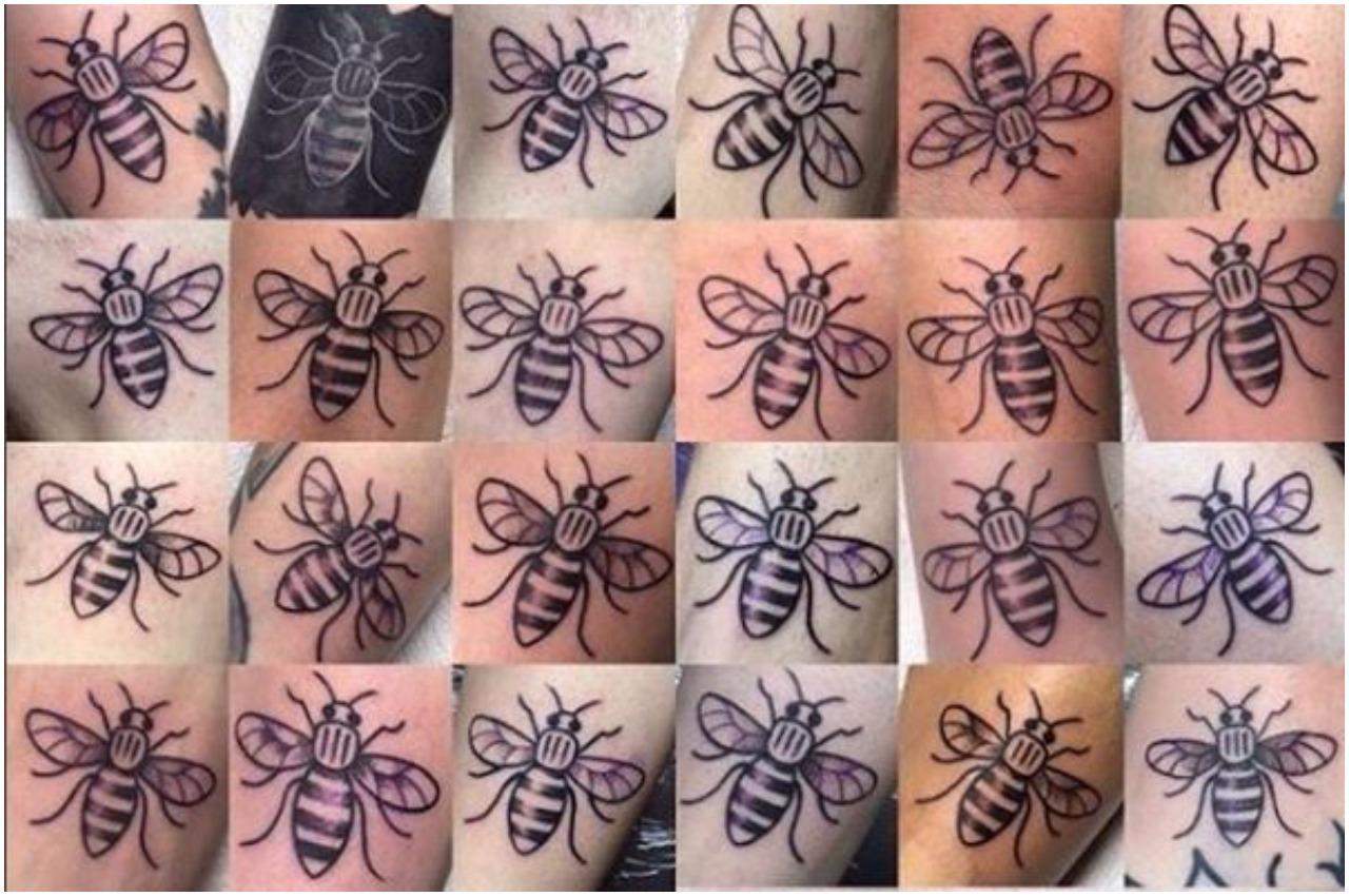 Nowa metoda na walkę z terroryzmem. Brytyjczycy tatuują sobie pszczoły na rękach