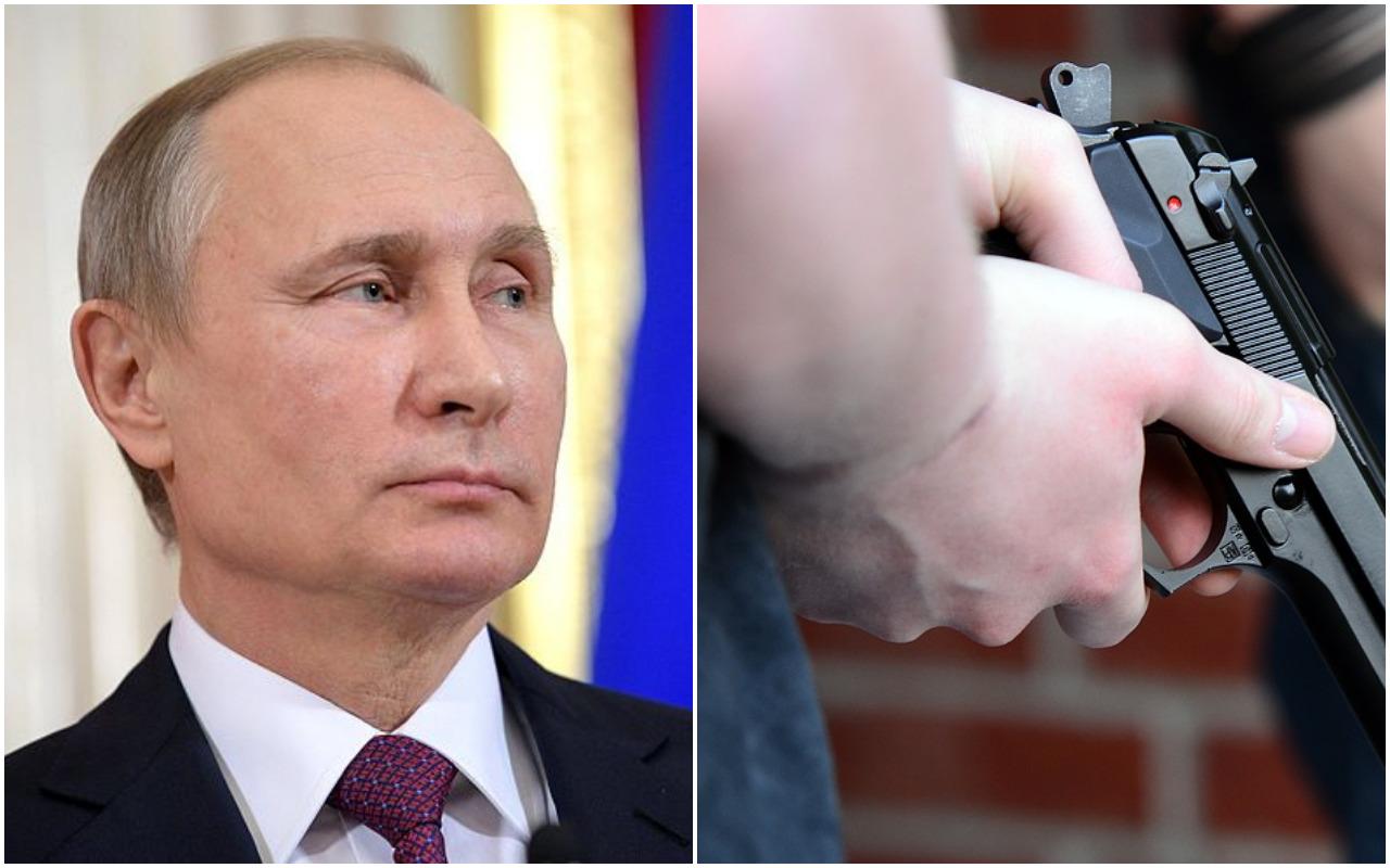 Przygotowywał zamach na Putina. Został postrzelony przez... dziennikarza