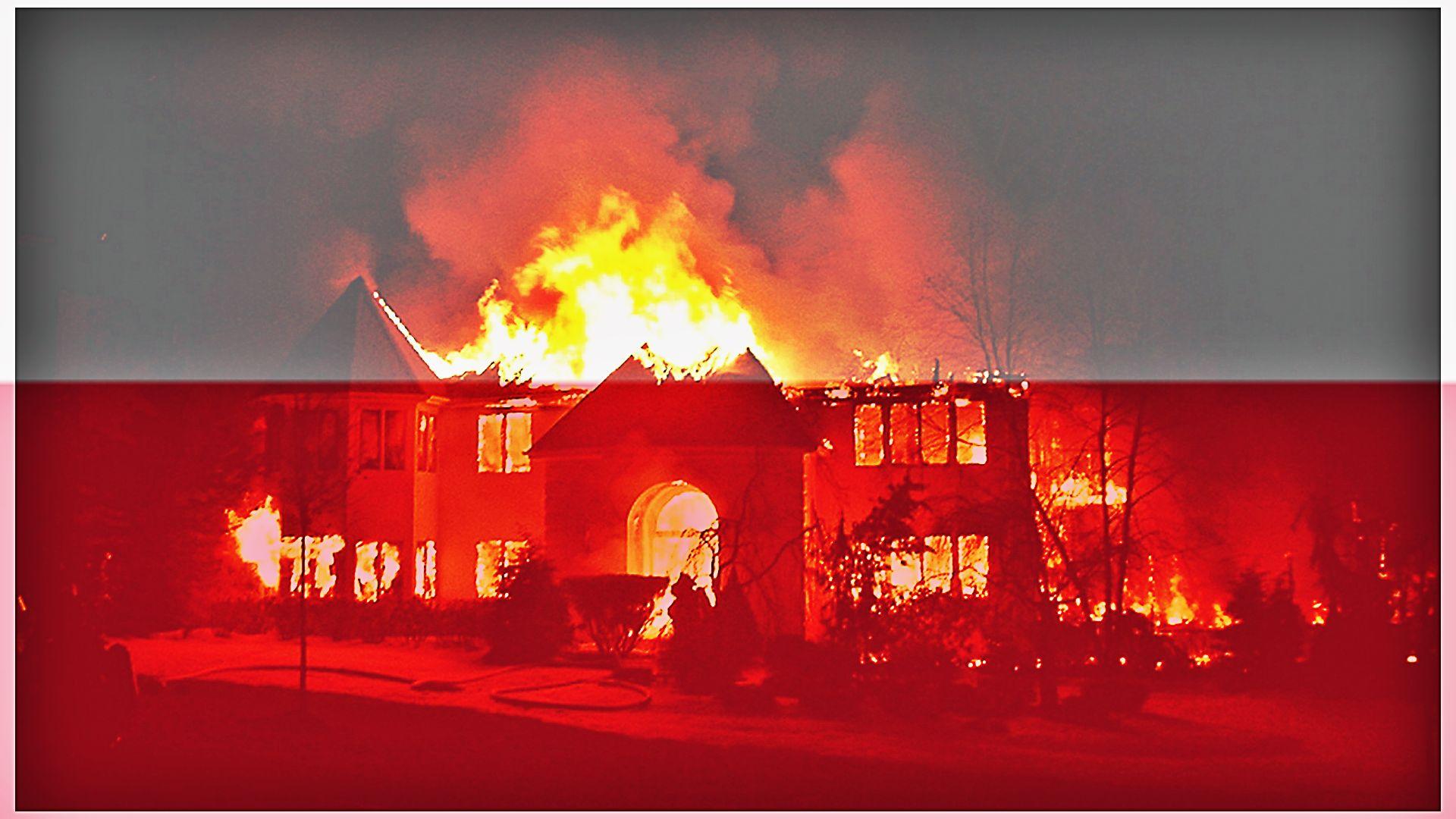 Polacy spalili hotel dla uchodźców!