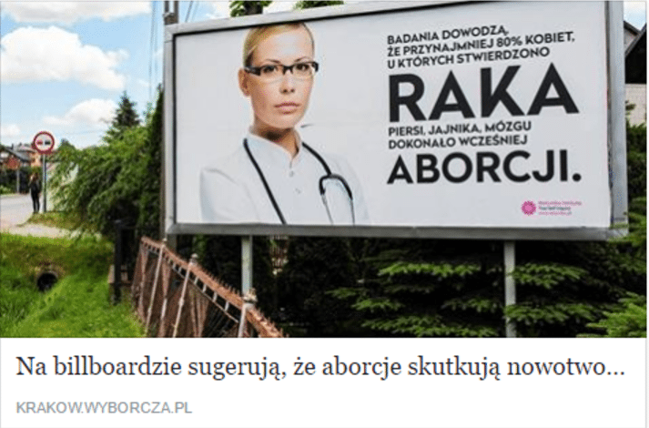 Będzie afera! Kobieta udająca lekarza OSZUKUJE, że aborcja wywołuje raka