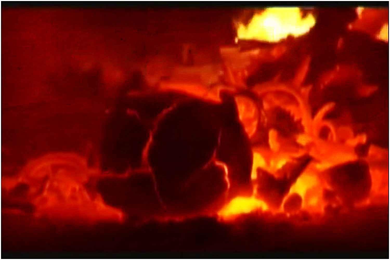 Oto jak wygląda kremacja ludzkiego ciała. Wstrząsające nagranie (video 18+)