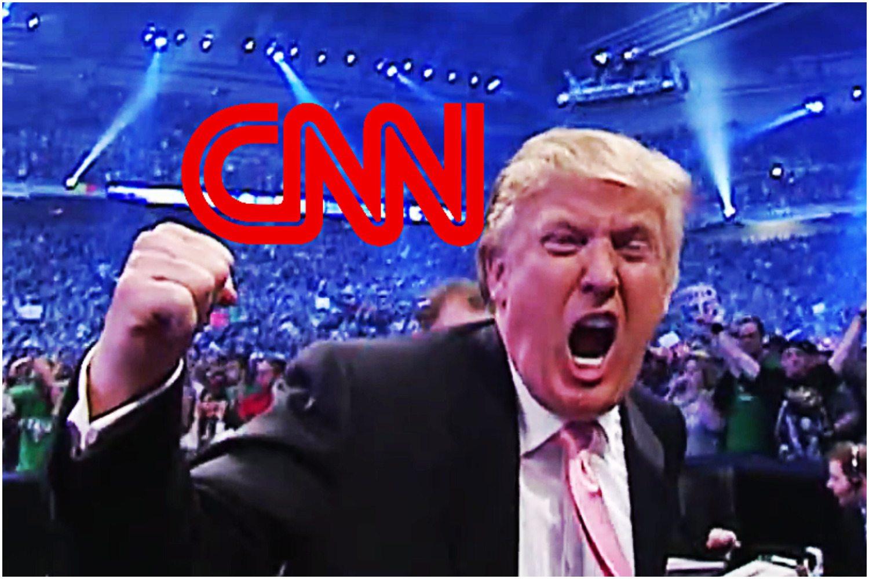 Trump dosłownie NOKAUTUJE CNN. Jego film pobił rekord na Twitterze (VIDEO)
