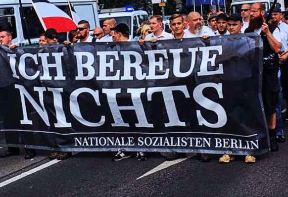 Naziści powracają. Przeszli ulicami Niemiec w rocznicę śmierci Hessa (foto)