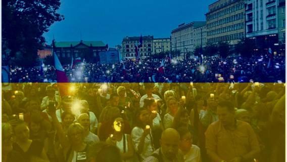 Ukrainiec protestował przed Sejmem i Pałacem. Teraz chcą go zniszczyć