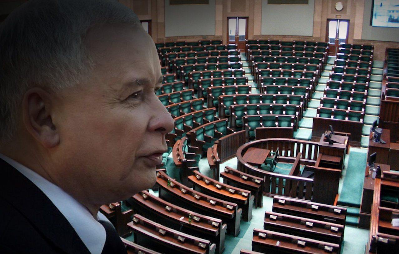 Takich wyników sondażu Kaczyński się nie spodziewał. Opozycja świętuje