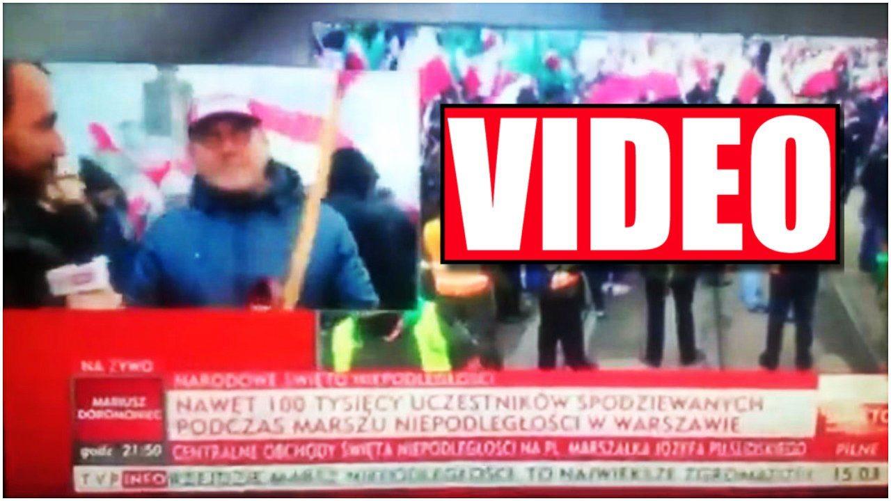 Reporter TVP w szoku! Takiej odpowiedzi się nie spodziewał