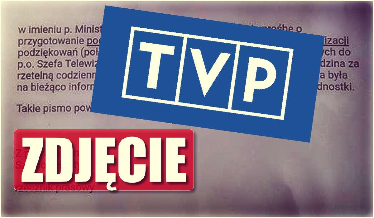Minister kazał dziękować TVP! Ujawniono jego maila