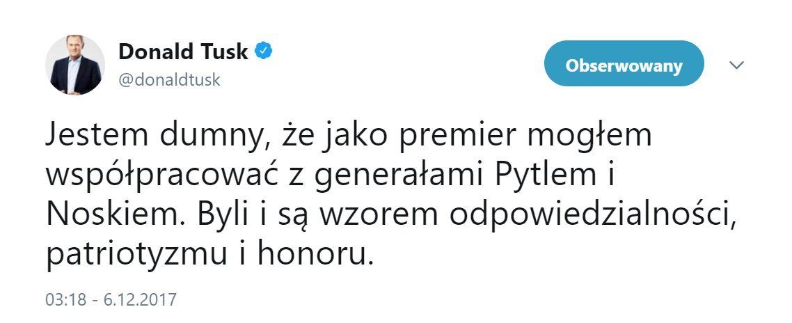 Tusk znów komentuje polską politykę