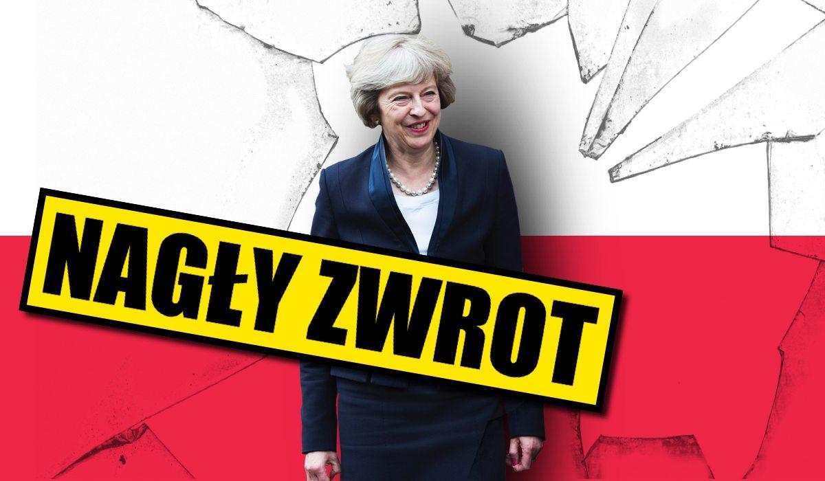 To zmienia wszystko! Theresa May pilnie przylatuje do Warszawy, chce z nami...