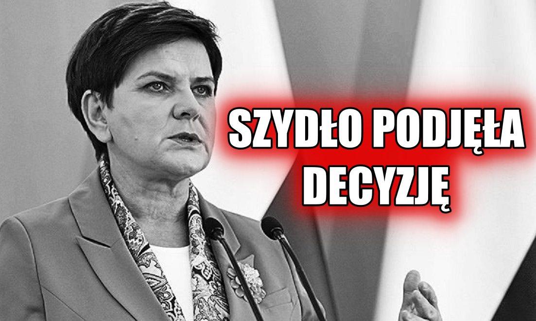 Szydło podjęła ostateczną decyzję! ZNIKA z polskiej polityki