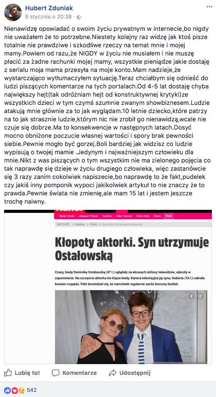 Polska aktorka na utrzymaniu syna?