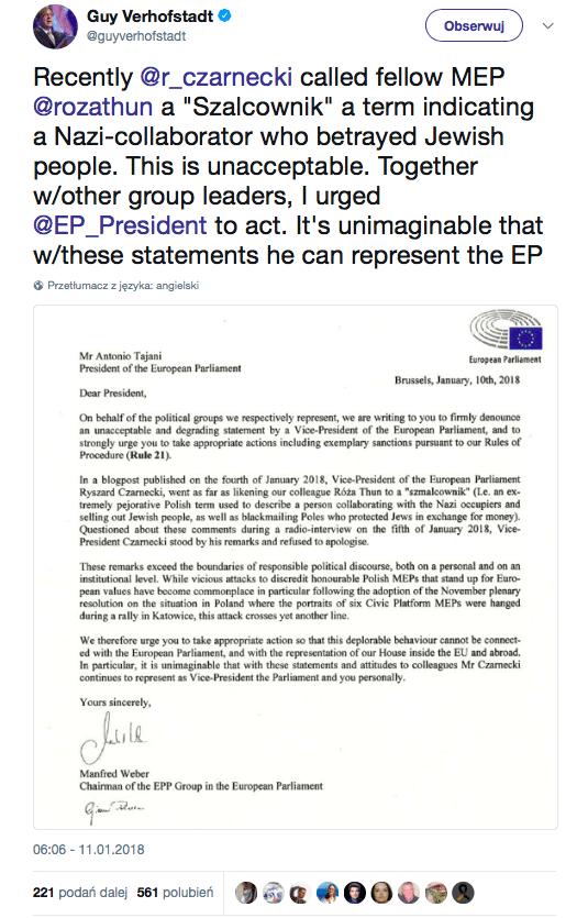 Czarnecki straci stanowisko w UE?