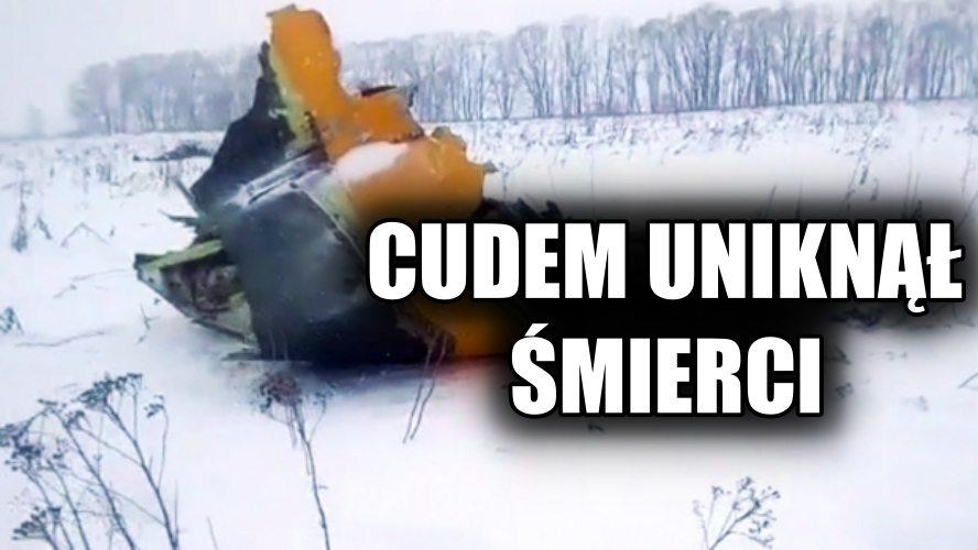 Cudem uniknął śmierci w katastrofie pod Moskwą. Uratował go przypadek