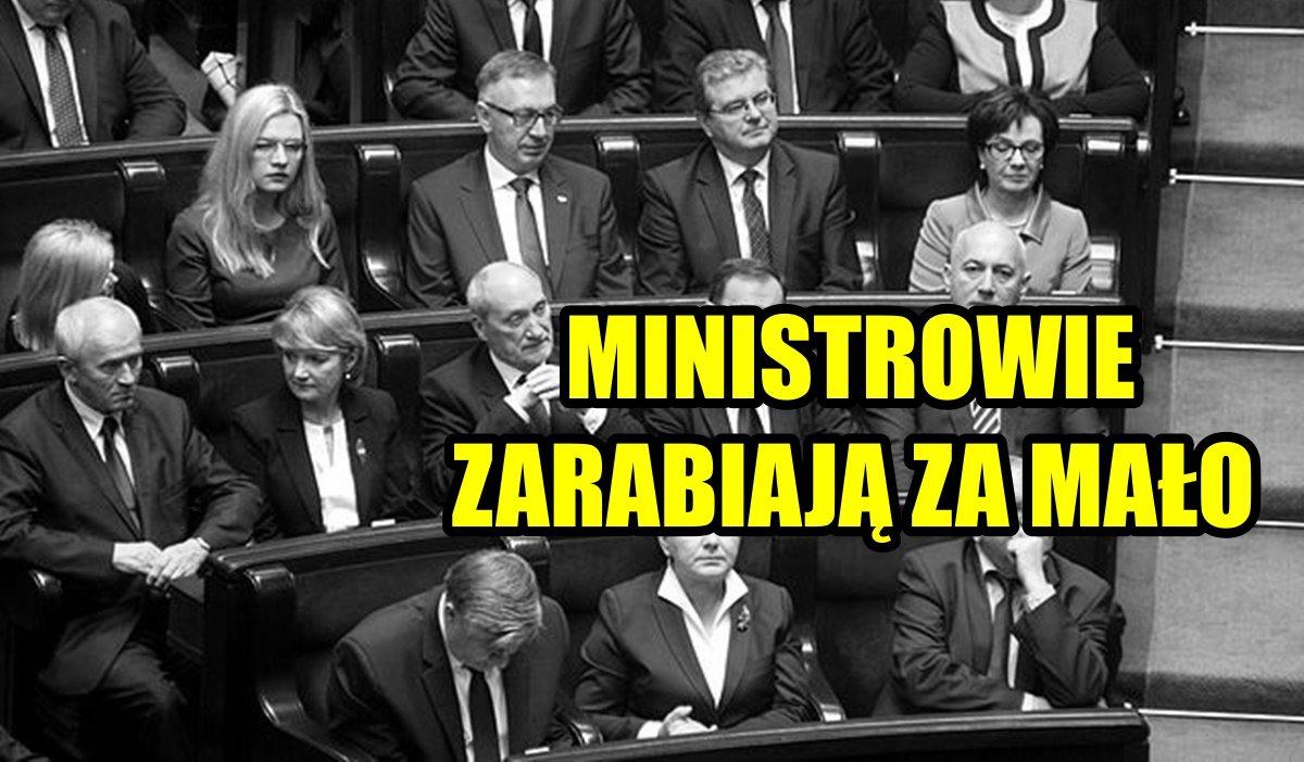 Czołowy polityk PiS: Ministrowie zarabiają ZA MAŁO