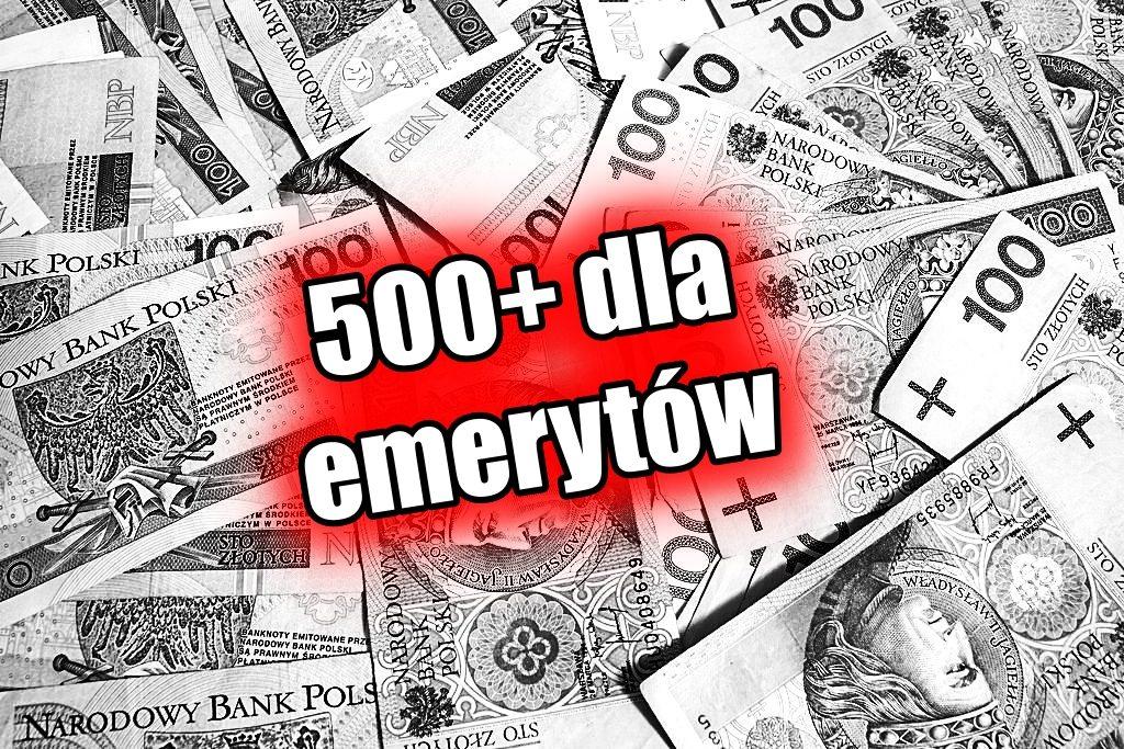 Kiedy 500 plus dla emerytów? Już wszystko jasne