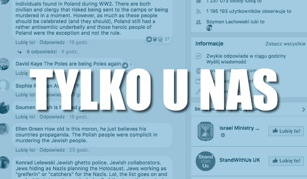 Sieć zapełniła się krytycznymi komentarzami Żydów o Polakach