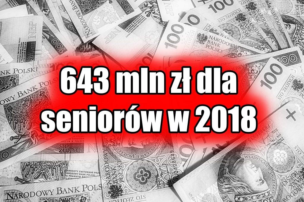 Rząd PiS ma niespodziankę dla seniorów. Wyda ponad 600 mln zł