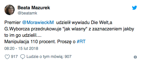 Gazeta pochwaliła się wywiadem z Morawieckim, którego... nie było