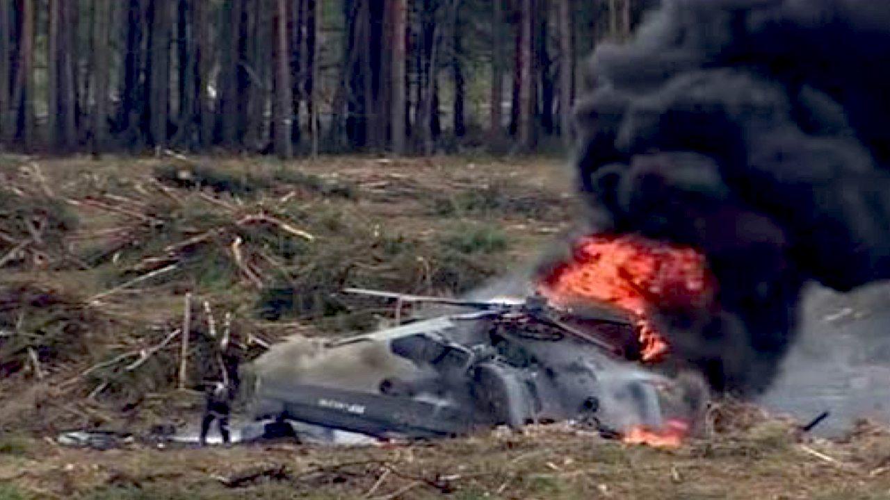 Helikopter z politykami runął na ziemię. 2 osoby nie żyją